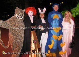 Homemade Alice in Wonderland Group Costume