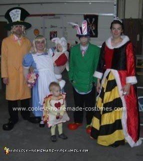 Homemade Alice in Wonderland Group Costume