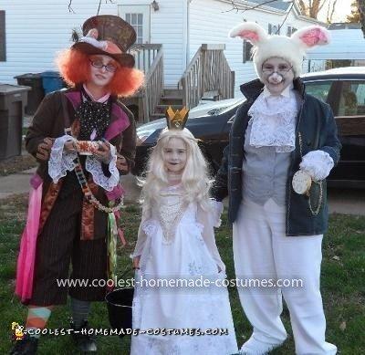 Homemade Alice in Wonderland Trio Costume
