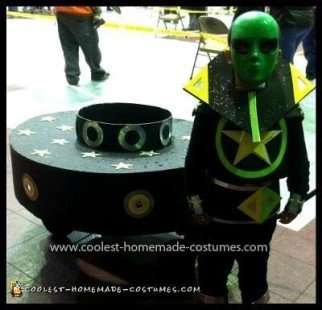 Homemade Alien and UFO Costume