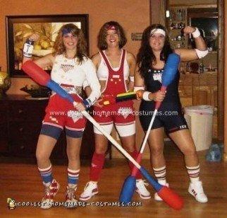 Homemade American Gladiators Group Costume