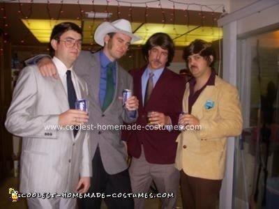 Homemade Anchorman Crew Group Halloween Costume
