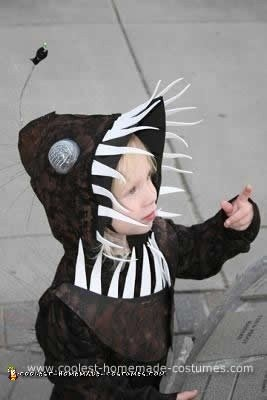 Homemade Angler Fish Costume
