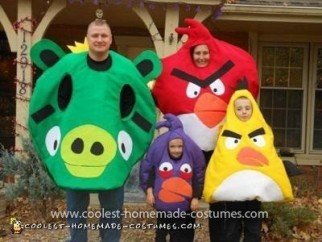 Homemade Angry Birds Child Costumes