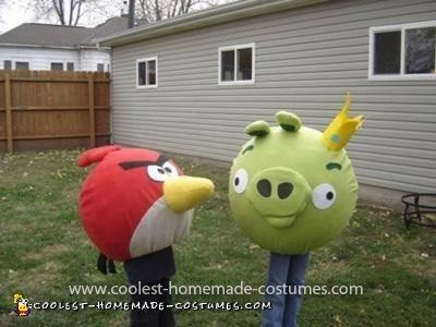 Homemade Angry Birds Costume