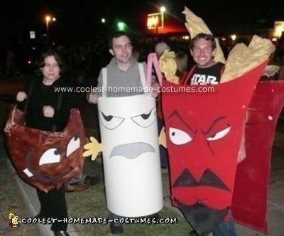 Homemade Aqua Teen Hunger Force Costumes