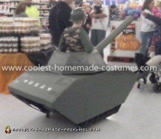 Homemade Army Man in Tank Costume