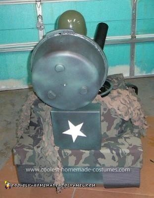 Homemade Army Tank Costume