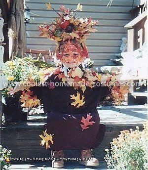 Homemade Autumn Tree Costume