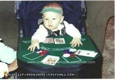 Homemade Baby Black Jack Dealer Stroller Costume