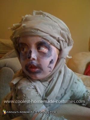 Homemade Baby Mummy Costume