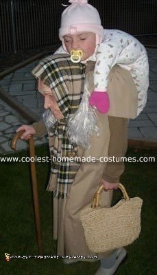 Coolest Baby on Granny's Back Optical Illusion Costume
