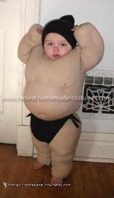 Homemade Baby Sumo Costume