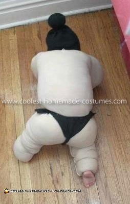 Homemade Baby Sumo Costume