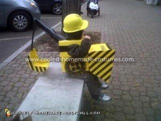 Homemade Backhoe Loader Digger Costume