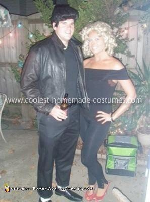 Homemade Bad Danny and Sandy from Grease Couple Costume