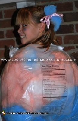 Homemade Bag of Cotton Candy Costume