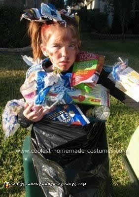 Homemade Bag of Trash Child Halloween Costume