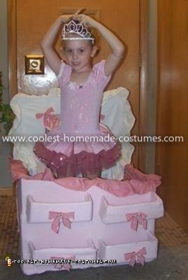 Homemade Ballerina in a Jewelry Box Costume