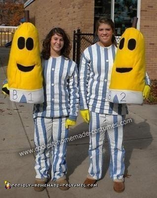 Bananas in Pajamas DIY Couple Halloween Costume