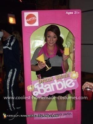 Homemade Barbie in a Box Costume
