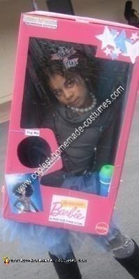 Homemade Barbie in a Box DIY Halloween Costume Idea