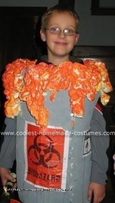 Homemade Barrel of Toxic Waste Halloween Costume