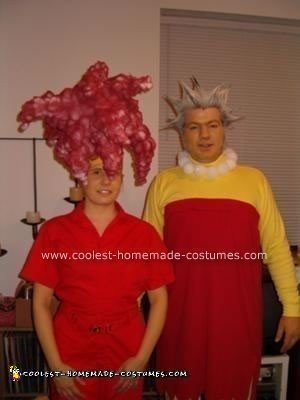 Homemade Bart and Lisa Simpson Costumes