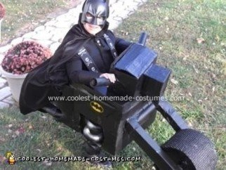 Homemade Batman and Batcycle Costume
