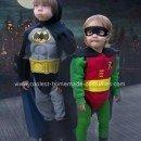 Homemade Batman and Robin Halloween Costumes