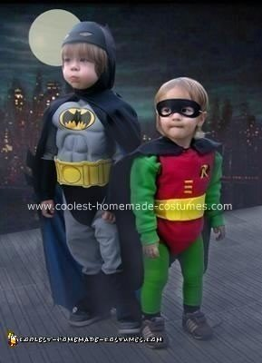 Homemade Batman and Robin Halloween Costumes