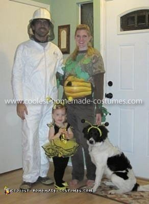 Homemade Bee Family Group Costume