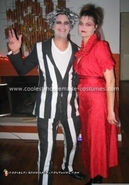 Beetlejuice and Lydia Costume