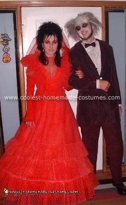 Homemade Beetlejuice And Lydia Wedding Costume