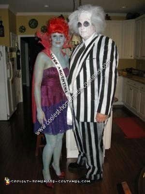 Coolest Beetlejuice And Miss Argentina Couple Halloween Costume Idea