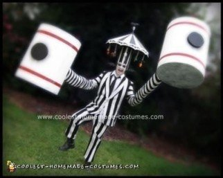 Handmade Beetlejuice Carousel and Hammerhands Costume