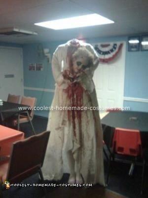 Homemade Beheaded Marie Antoinette Halloween Costume