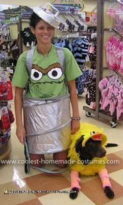 Coolest Big Bird Dog And Oscar The Grouch Handler Costume