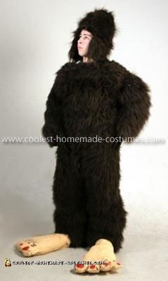 Homemade Big Foot Costume