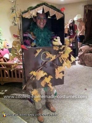 Homemade Birdhouse Costume