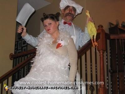 Homemade Bjork and Swedish Chef Couple Costume