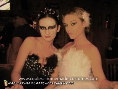 Coolest Black and White Swan Couple Costume 4