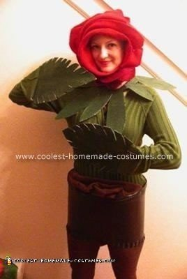 Homemade Blooming Rose Halloween Costume
