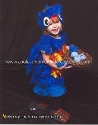 Homemade Blue bird with Baby Birds Costume