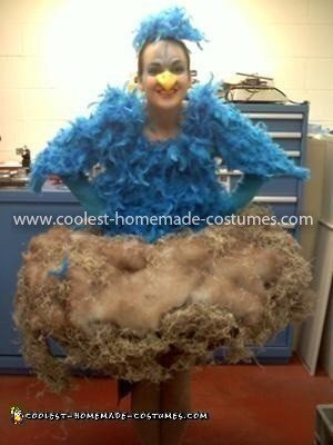 Homemade Bluebird of Happiness in a Nest Costume