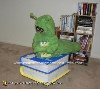 Homemade Bookworm Halloween Costume