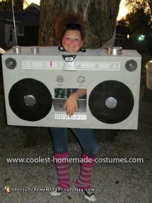 Homemade Boom Box Costume