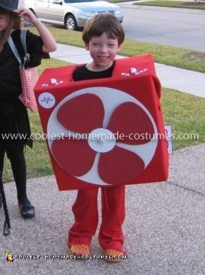 Homemade Box Fan Costume