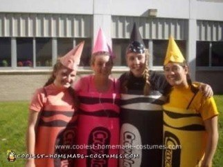 Homemade Box of Crayons Group Costume