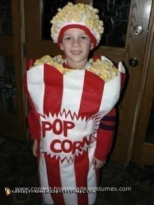 Homemade Box of Popcorn Costume